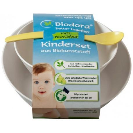 BIODORA - Detský set z bioplastu 3 diely