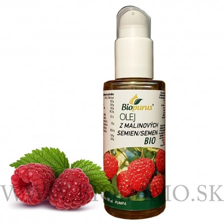 Olej z malinových semien BIO 100 ml + pumpa Biopurus