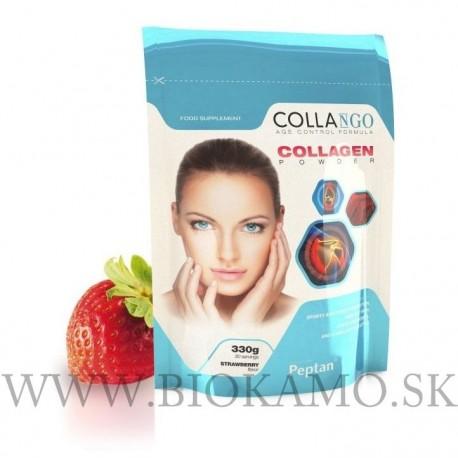 COLLAGEN - hydrolyzovaný kolagén Peptan 330g s príchuťou jahoda