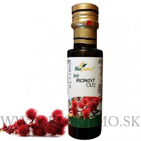 Ricínový olej BIO 100ml jedlý Biopurus