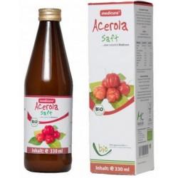 Acerola 100% prírodná šťava BIO 330 ml Medicura