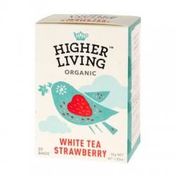 Higher Living Organic - Biely čaj jahoda porciovaný 35 g